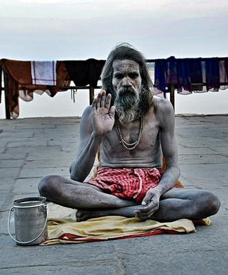 Saddhu am Ganges