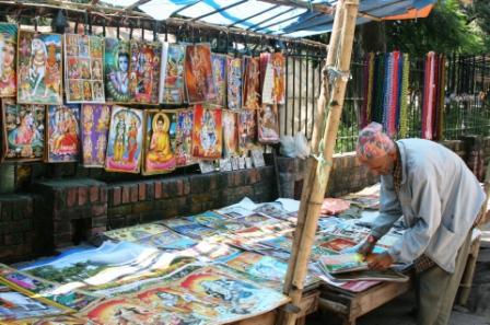 Thangkaverkäufer in Kathmandu