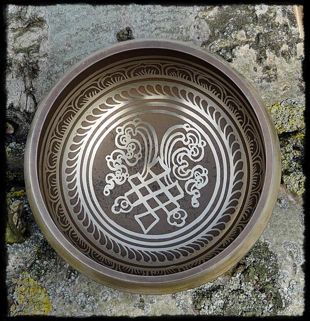 Klangschale OM Namah Shivaya, innerer Boden